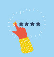 customer review concept rating golden vector image