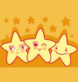 cute and tender stars cartoons vector image