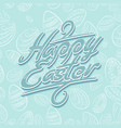 easter lettering pattern blue vector image vector image
