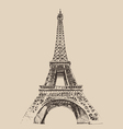 Eiffel Tower Paris France architecture vintage e vector image vector image