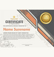 elegant and futuristic modern certificate vector image vector image