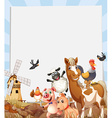 Farm animals living on farmland vector image vector image