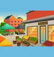 farmers market background vector image