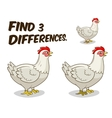 Find differences game hen chicken vector image vector image