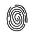 fingerprint icon2 vector image