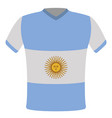 flag t-shirt of argentina vector image