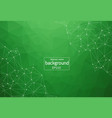 geometric green polygonal background molecule and vector image vector image