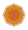 halal template for islamic pattern logo for vector image vector image