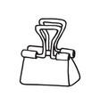 hand drawn paper clip doodle icon vector image vector image