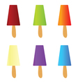 ice cream color vector image vector image