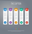 icon learning set of magnetization attraction vector image