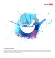 icon of bowl and chopsticks - watercolor vector image vector image