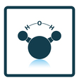 Icon of chemical molecule water vector image vector image