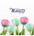 international happy womens day with flowers vector image