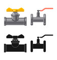 isolated object pipe and tube logo collection vector image vector image