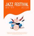 jazz band member playing music at festival vector image
