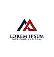 letter am logo real estate logo design concept
