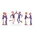 male friends meeting and greeting vector image