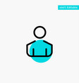 male man person turquoise highlight circle point vector image