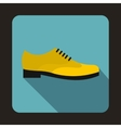 Male yellow shoe icon flat style vector image vector image