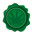 marijuana wax seal vector image