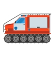 Military cross-country vehicle vector image