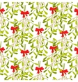mistletoe branches seamless pattern vector image vector image