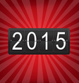 New Years Counter With Sunburst vector image