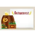 Oktoberfest celebration background poster vector image vector image
