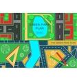 Online city garden creative design vector image vector image
