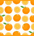 pattern with cartoon oranges isolated on vector image vector image