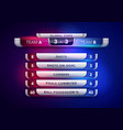 scoreboard broadcast graphic and lower thirds vector image vector image