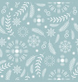 seamless pattern seasons greetings vector image