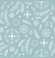 seamless pattern seasons greetings vector image vector image