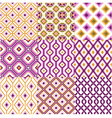 seamless retro geometric wallpaper vector image vector image
