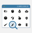 set of 12 editable kitchenware icons includes vector image vector image