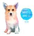 set watercolor cute dog vector image