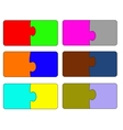 Six parts of color puzzle A vector image vector image