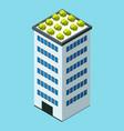 skyscraper building in city space with green vector image vector image