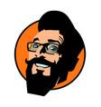 smiling hipster man joyful emotions vector image