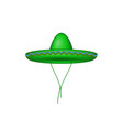sombrero hat in green design vector image vector image