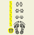 Stable foot icon set vector image vector image