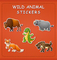stration of of cute cartoon wild anim vector image vector image