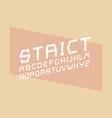 strict italic font alphabet vector image