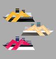 version icon cruise liner ship at sea travel vector image vector image