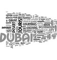 what to see and do in dubai text word cloud vector image vector image