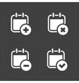 White Calendar Icons vector image vector image