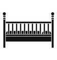 wood baby bed icon simple style vector image vector image