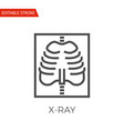 x-ray icon vector image vector image