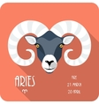 Zodiac sign Aries icon flat design vector image vector image
